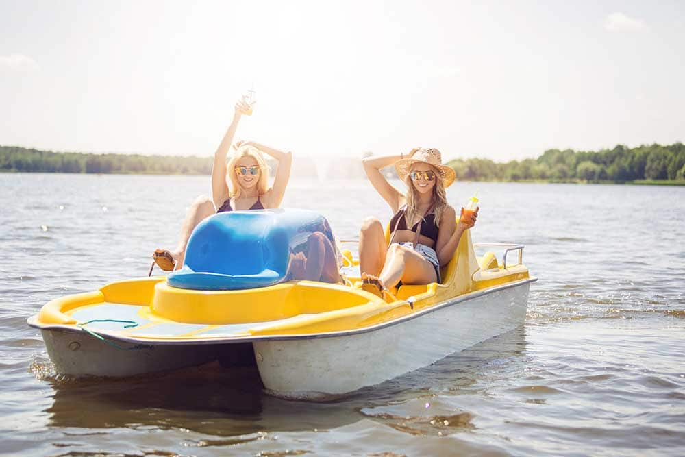 Paddle Boat Pedal Boat Rental In Sylvan Lake