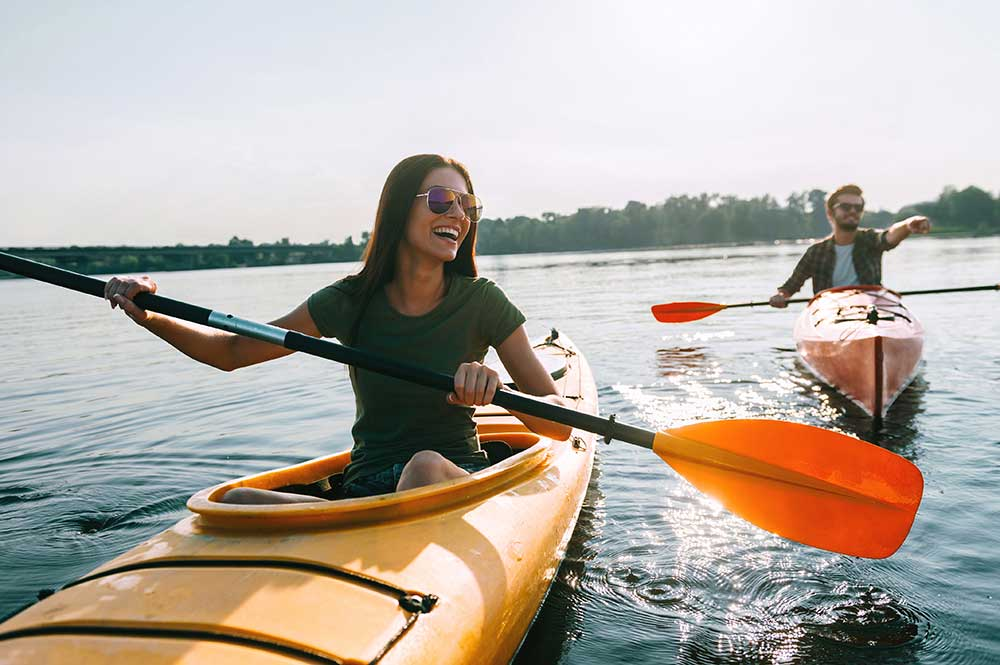 Sun Sport Recreation Paddle Boat Rentals in Sylvan Lake Alberta;
